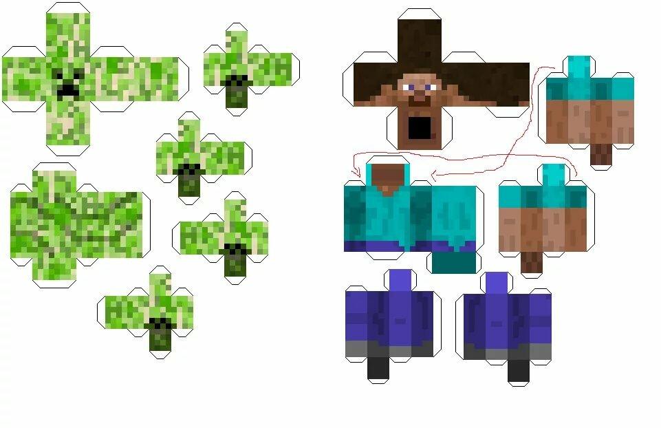 Схемы из майнкрафта картинки