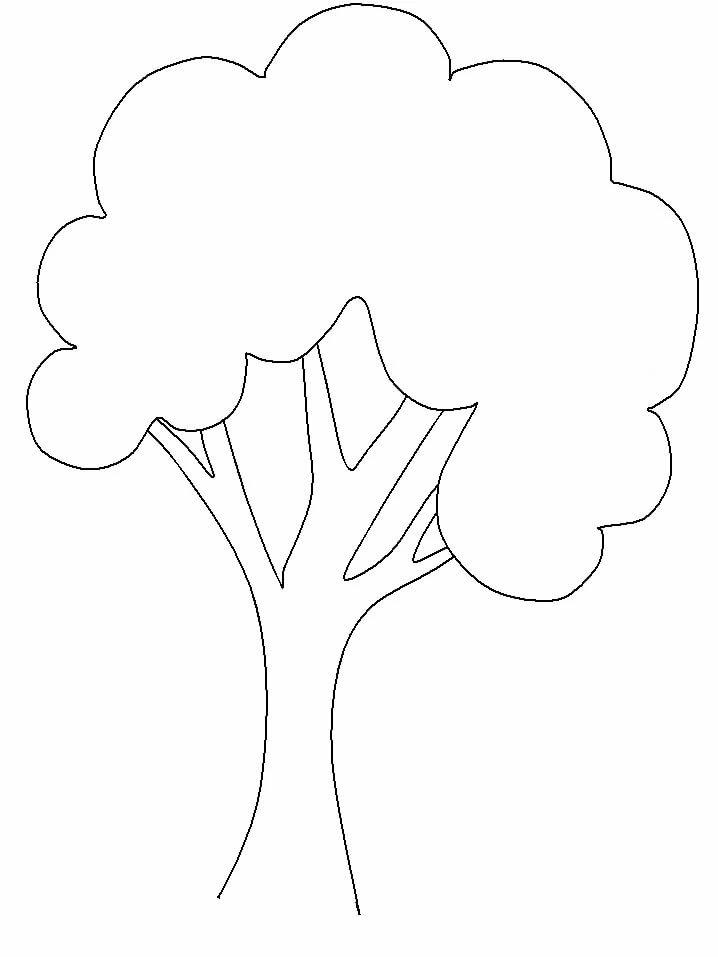 дерево шаблон картинки распечатать
