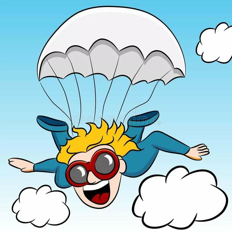 Для друзей, смешные рисунки про парашютистов