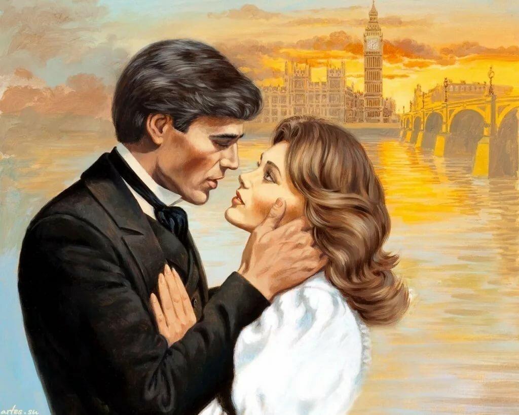 Открытка женщине, красивые картинки любовь и романтика рисованные