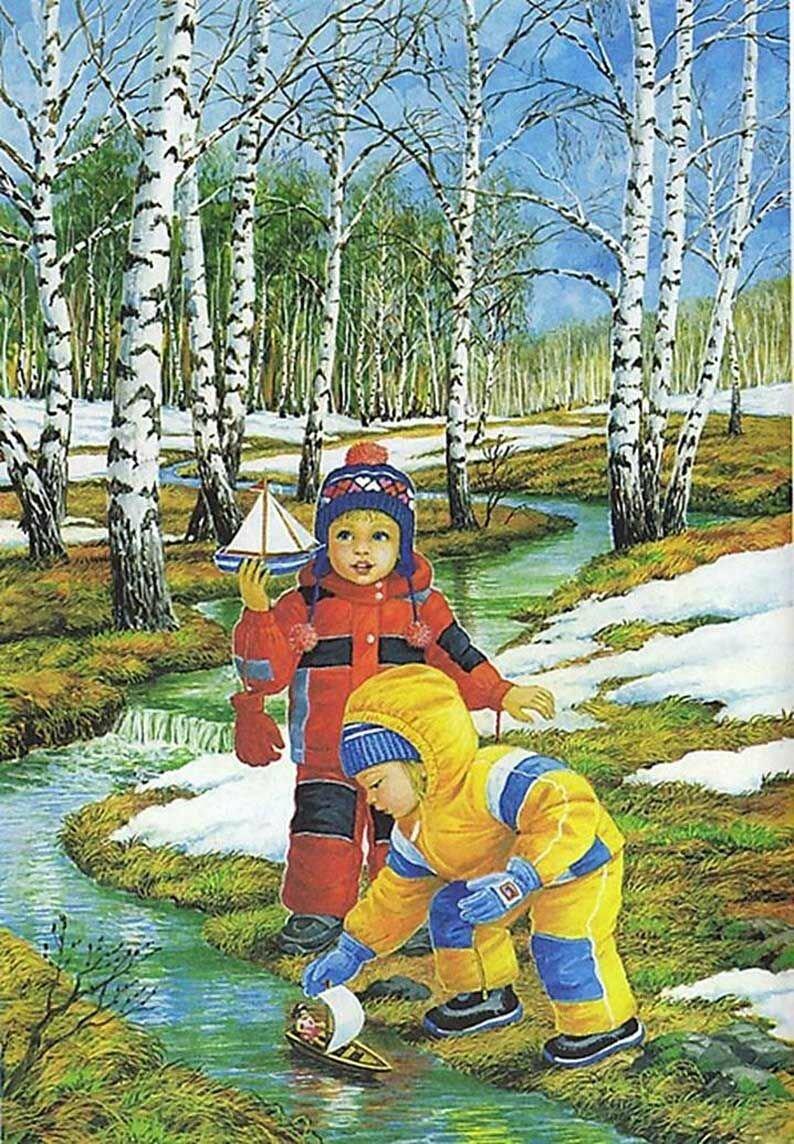 Картинка апрель весна для детей