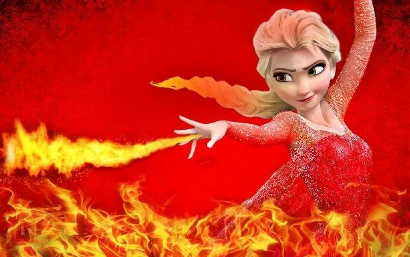 картинка ледяное сердце в огне мелкие точки