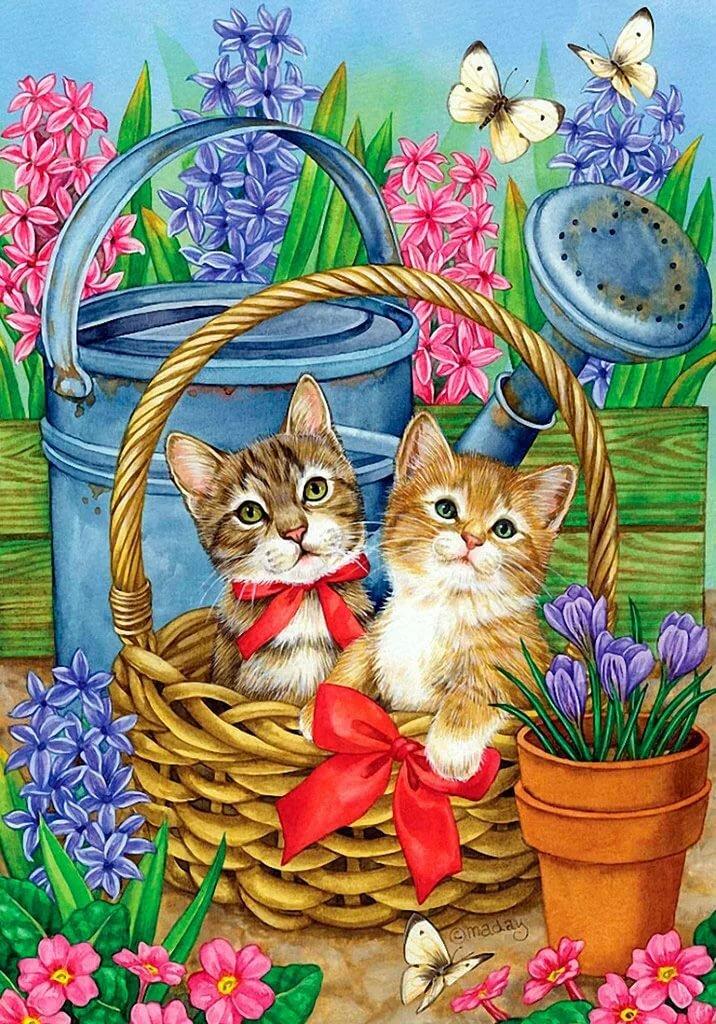Открытки кошек и котят, поздравления