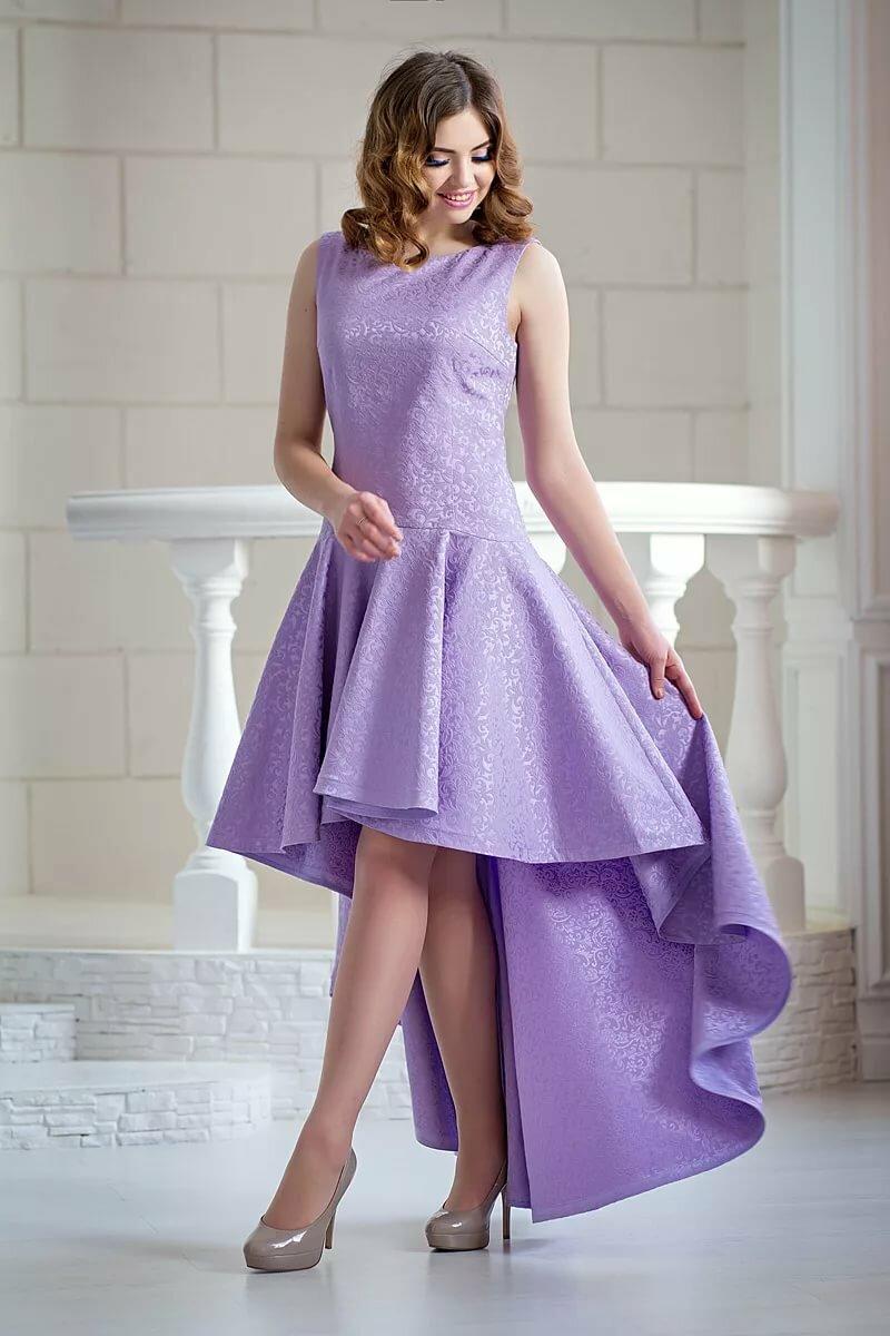 Платье лавандового цвета фото