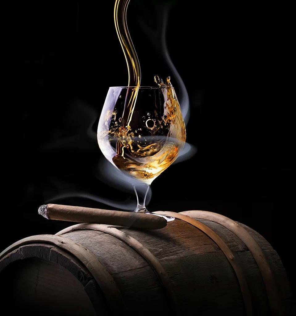 Поздравительная открытка виски сигары, поздравление днем