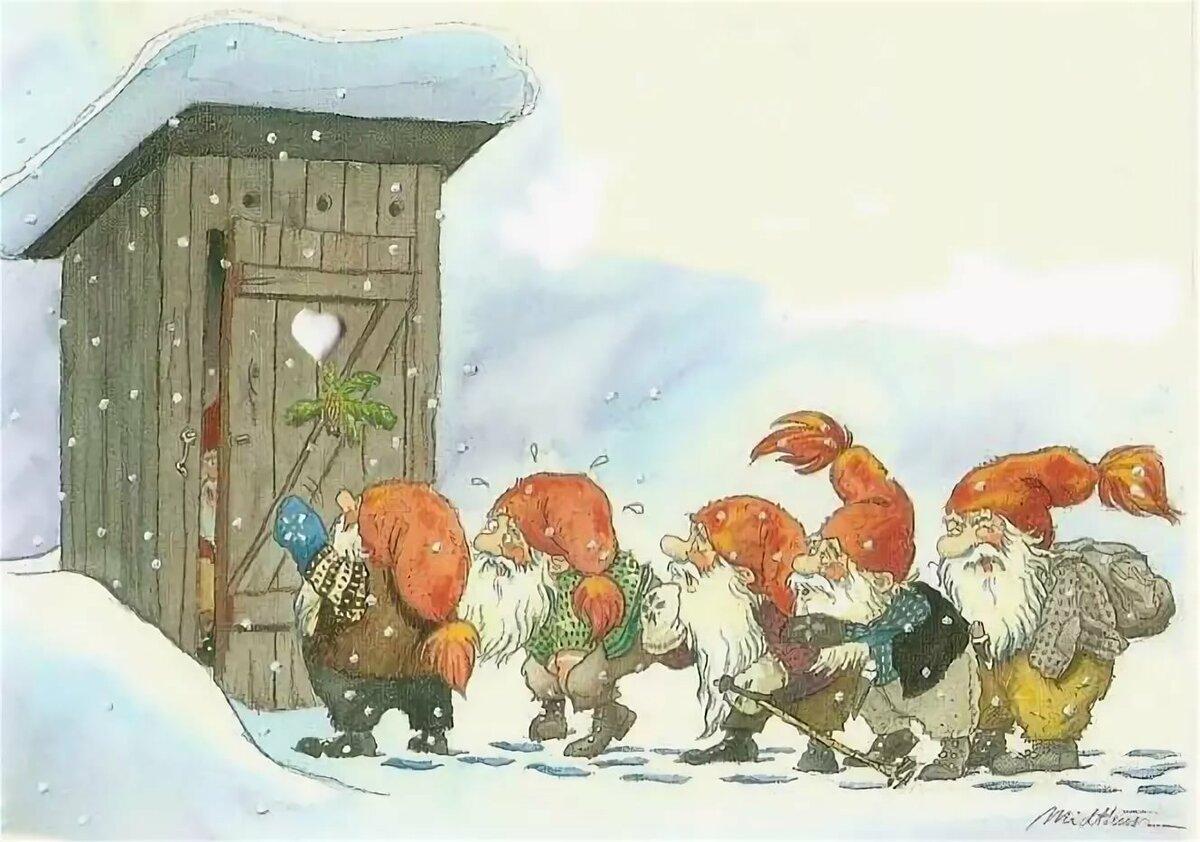 Ручной работы, новогодние скандинавские открытки