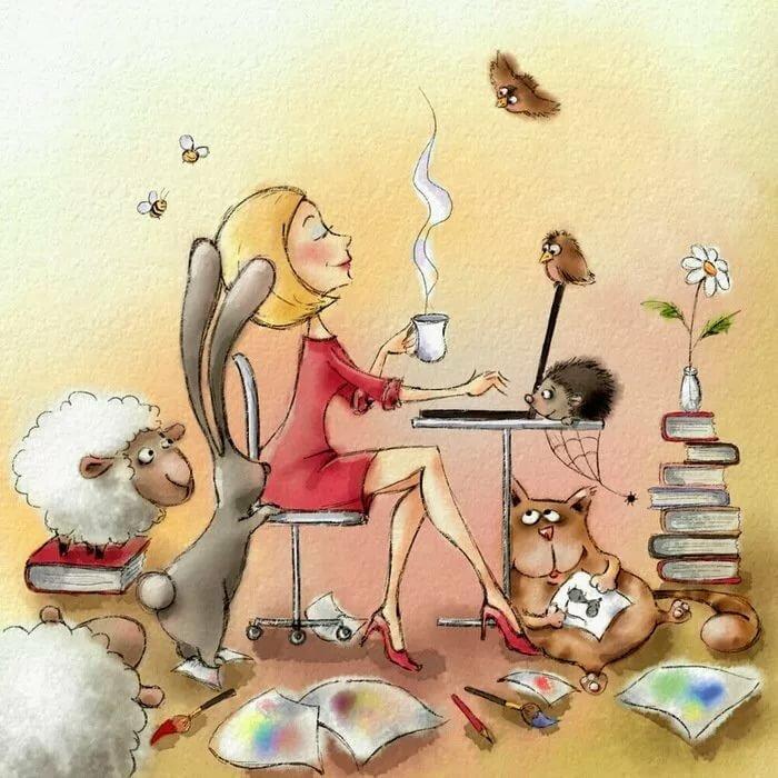День рождения, художник открытки работа