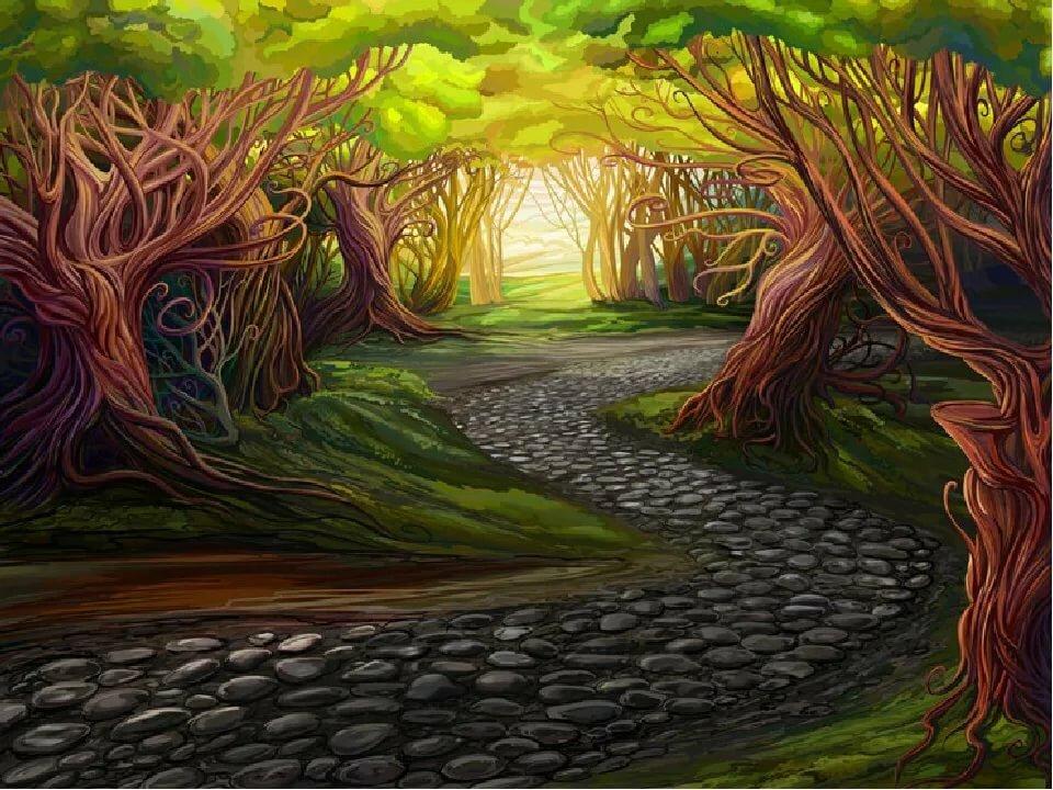 Картинка сказочной дороги