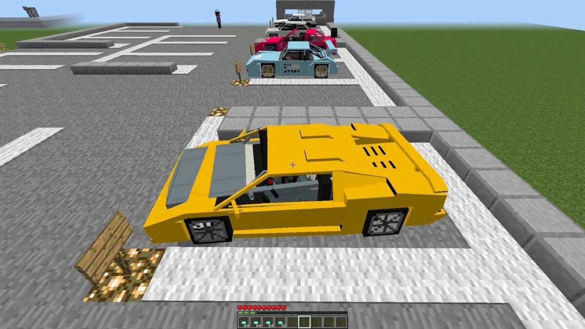 Картинки гоночная машина в майнкрафте