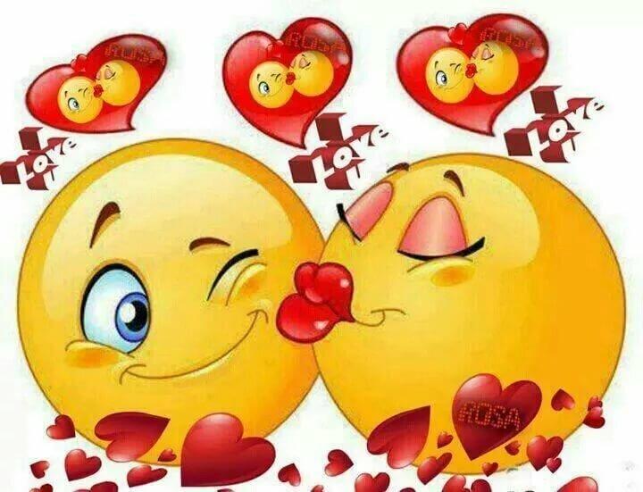 Прикольная картинка с поцелуями