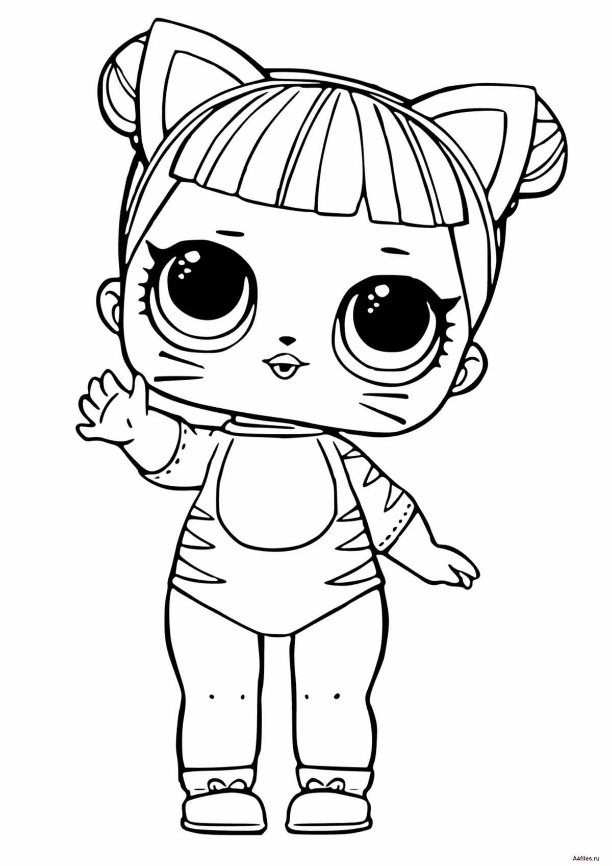 «Кукла ЛОЛ: раскраска для девочек - Раскраски А4 формата ...