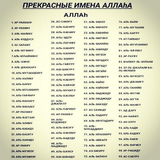 картинки с именами аллаха на русском самые красивые