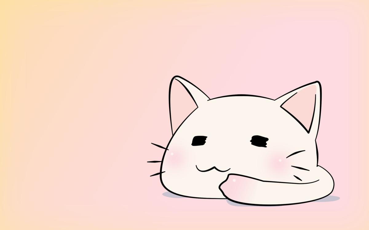 Смешные котики аниме, цветы для