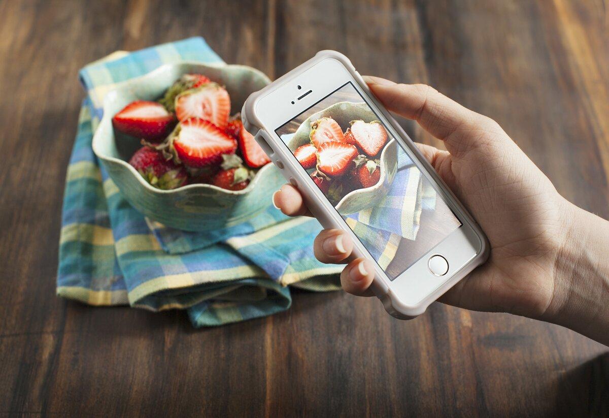 обработка фото еды на айфон составленный