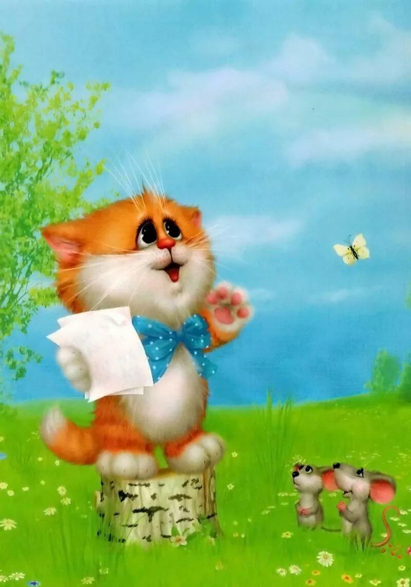 Надписью, картинки коты долотова