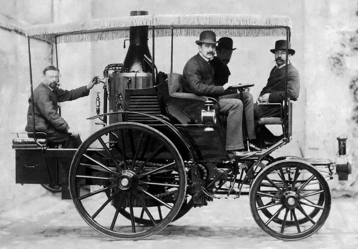 картинка первого автомобиля с паровым котлом дом