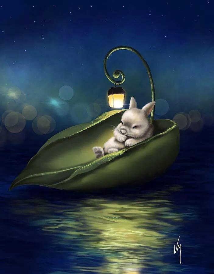 Картинки сказочной ночи сладких снов, открытка подписать открытки