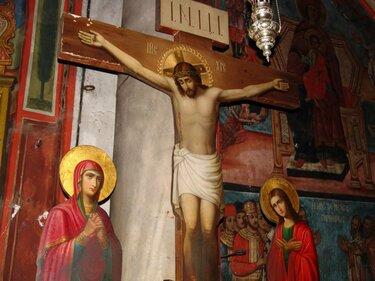 распятие христа икона