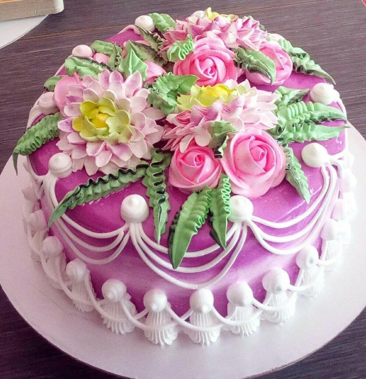 Торты на день рождения картинки для женщины