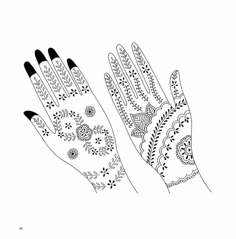 Рисунки для хны на руках легкие для начинающих поэтапно