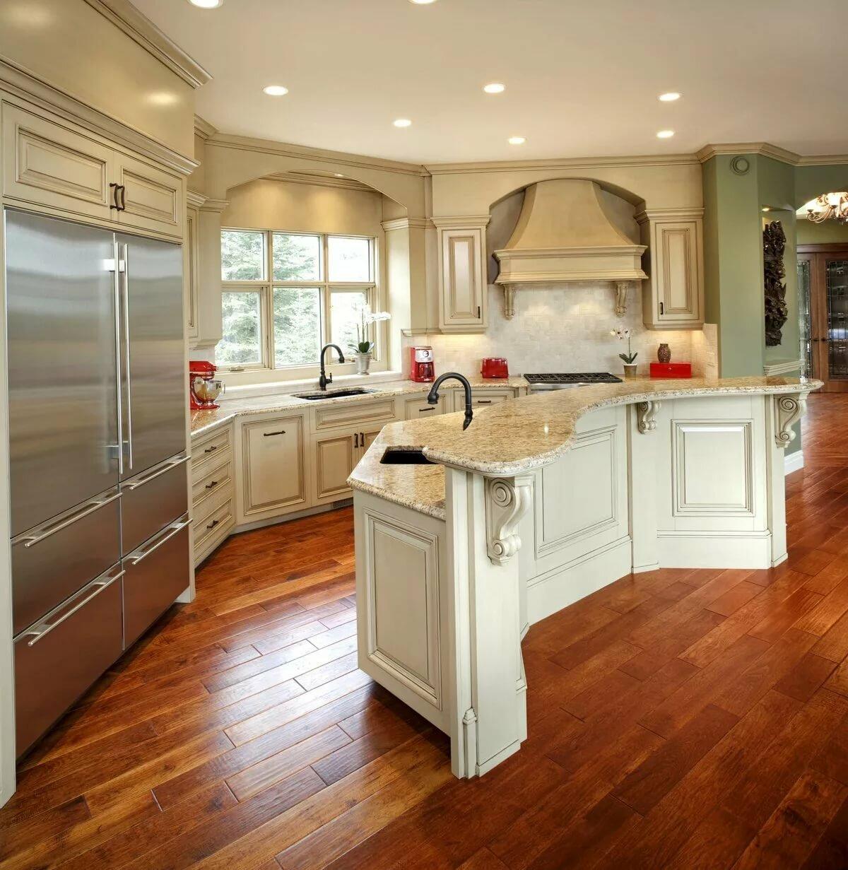 Дизайн кухни в доме в картинках
