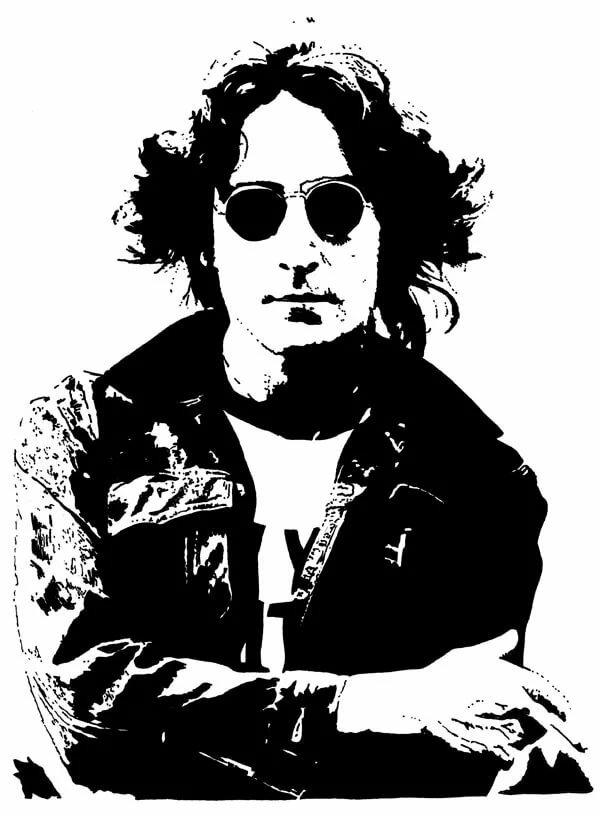 джон леннон черно-белые картинки фотокартинки