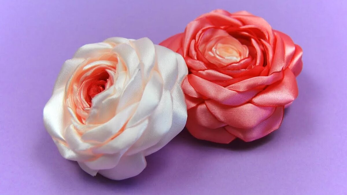 Купить, мк цветок из атласных лент