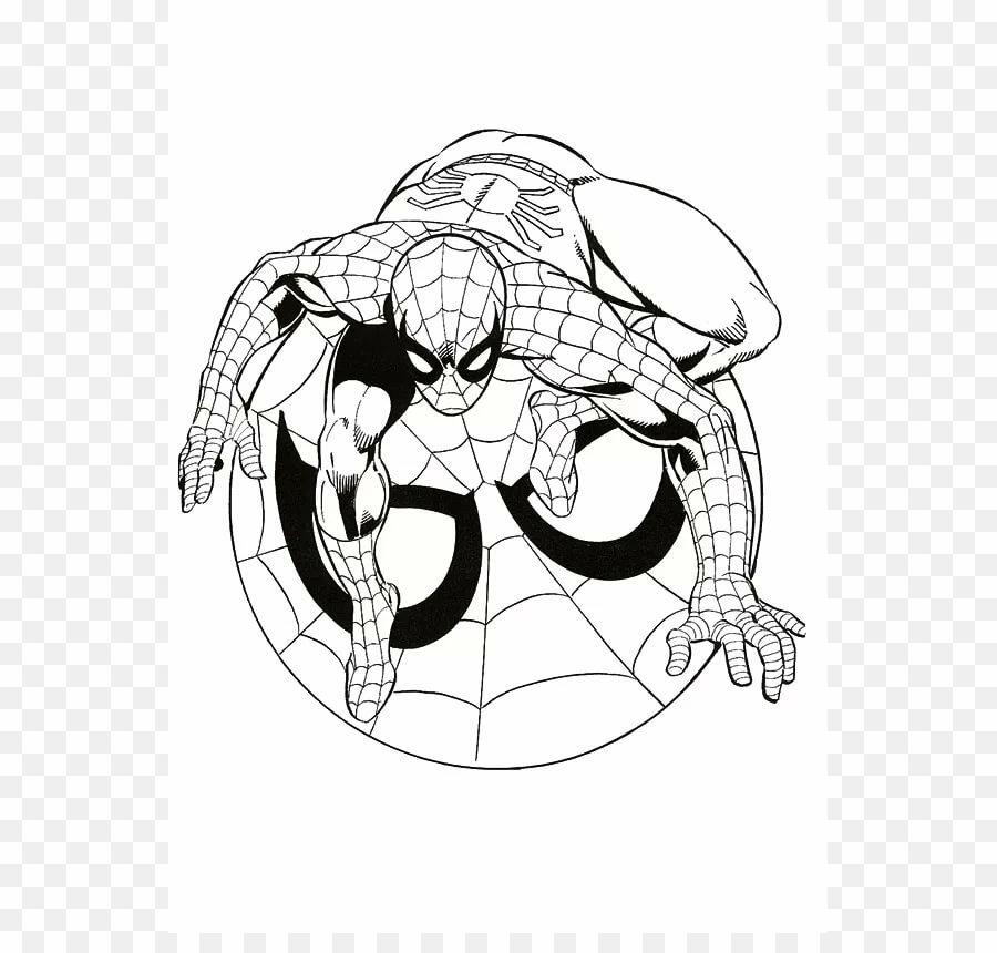 «Раскраска для детей Символ Человек-паук распечатать или ...
