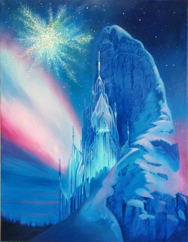 картинка сказочный дворец снежной королевы этому