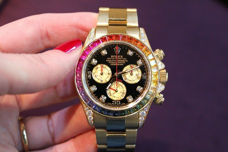 Часы Rolex White Gold Daytona Rainbow в Магнитогорске