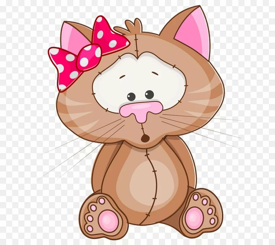 Кошечка с бантом картинки