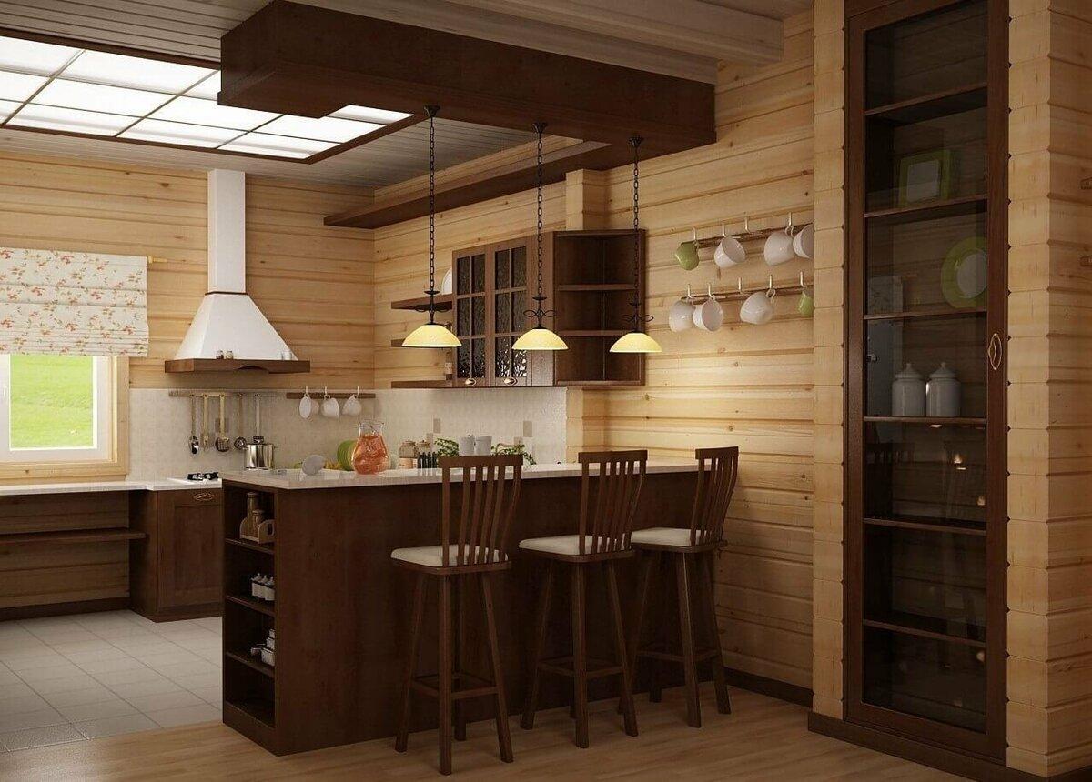кухня в деревянном доме фотогалерея