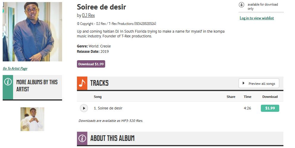 [konpa] DJ Rex - Se Li' L Ye / Soiree de desir S1200