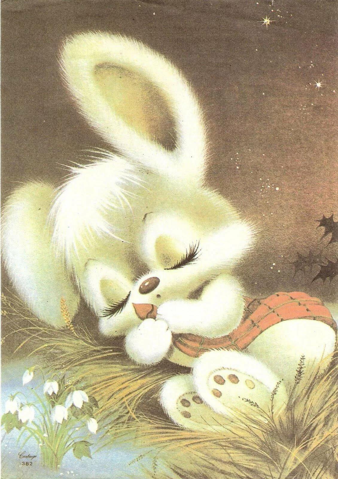 Фоны для, картинка с зайчиком спокойной ночи