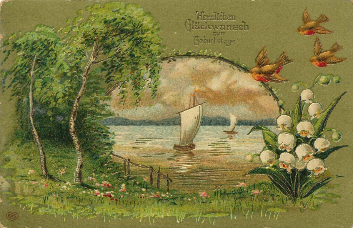 Прикольные, красивые открытки с природой с днем рождения