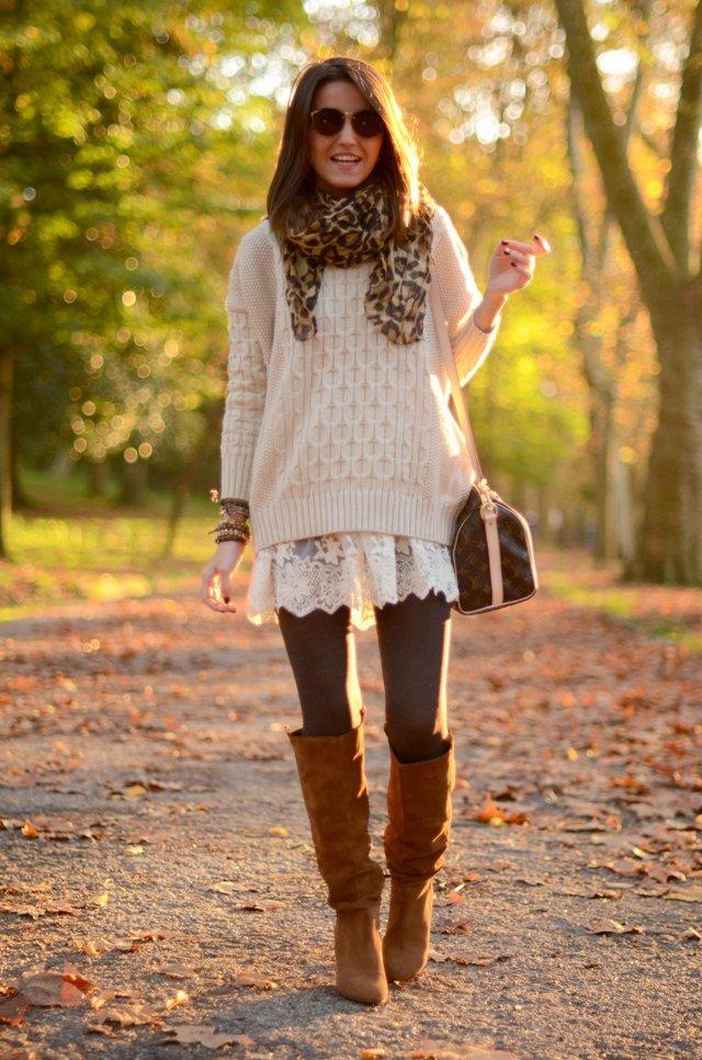 быть свитер поверх платья фото готовится легко, хотя