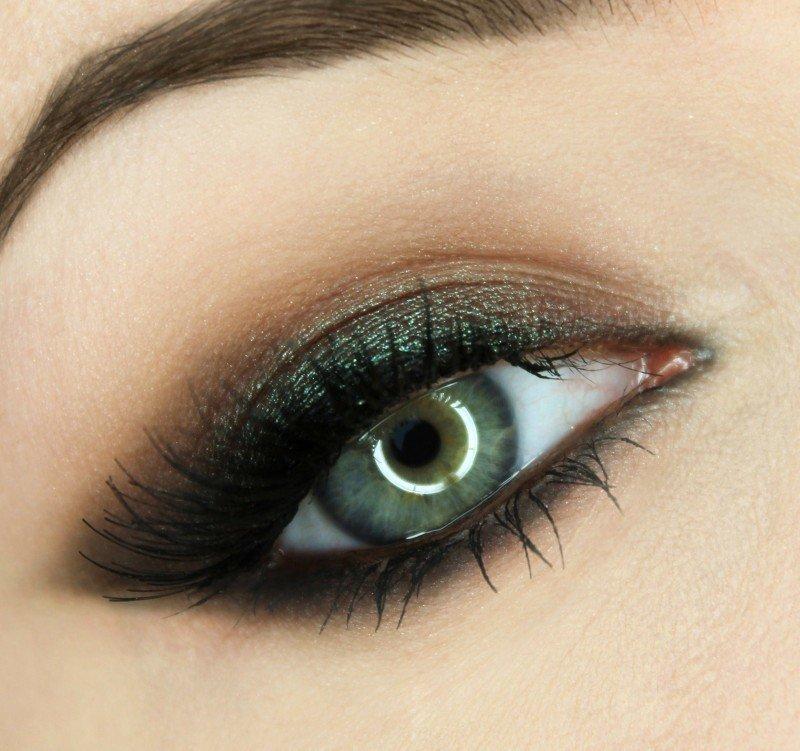 Картинки макияжа серо зеленых глаз