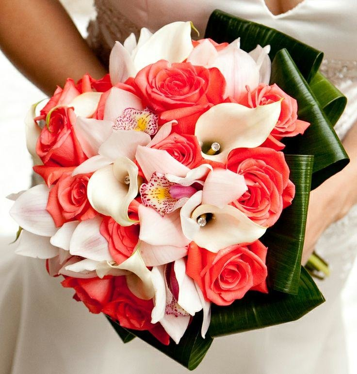 Цветы подарить, свадебные букеты из диких орхидей и калл