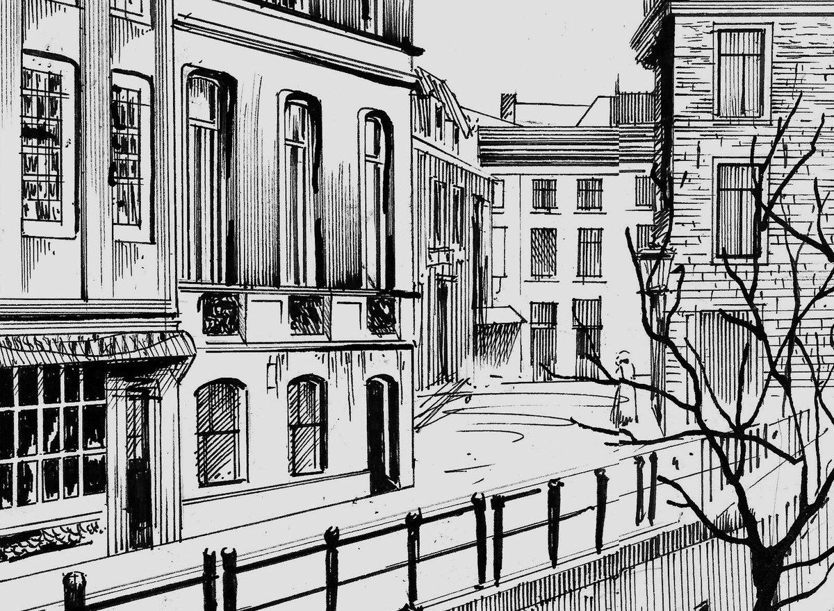 Картинки городских улиц черно белые