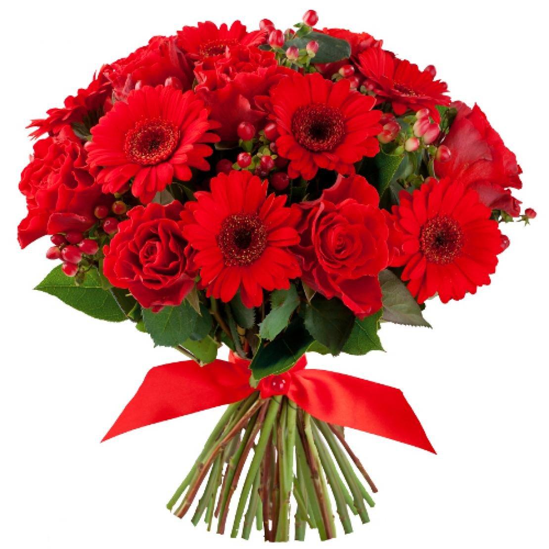 красивые картинки с букетами из красных цветов этот раз