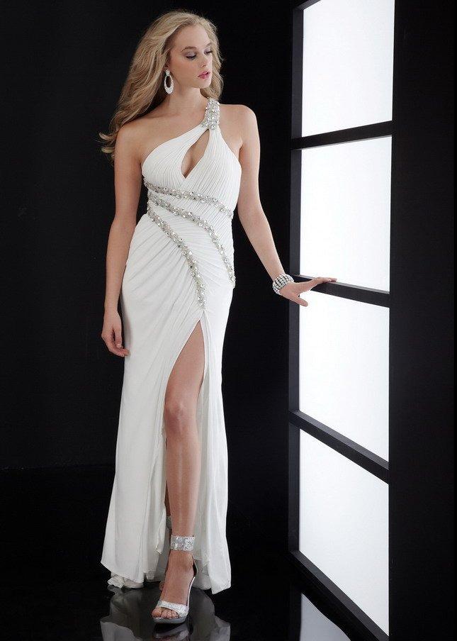 Платье с разрезом на ноге эротическое фото
