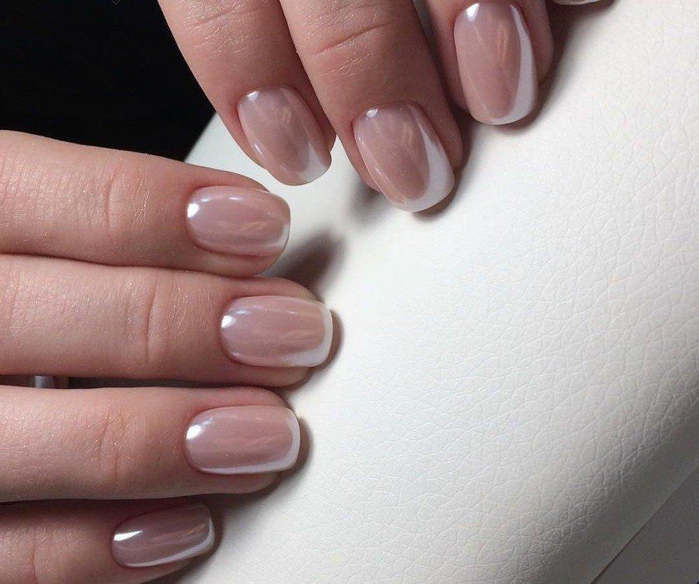 Светлый Шеллак На Короткие Ногти Фото Дизайн