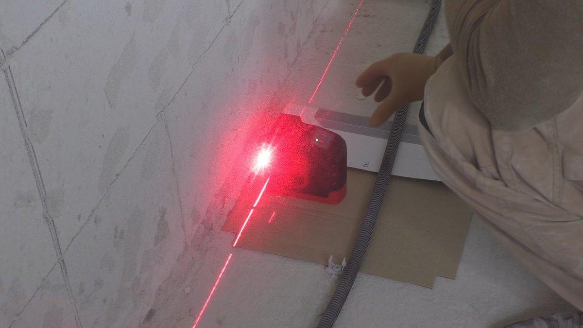 выставление маяков по лазерному уровню