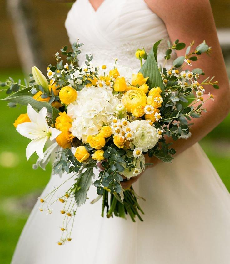 Свадебного букета, ромашка в букете невесты