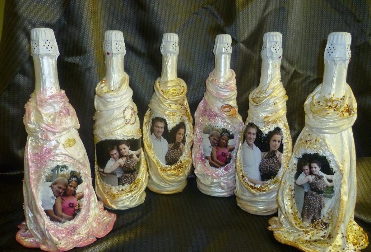 Открытка декупаж бутылки, учителя для детей