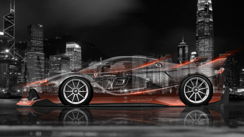 High Quality Ferrari FXX K Side Crystal City Car 2015