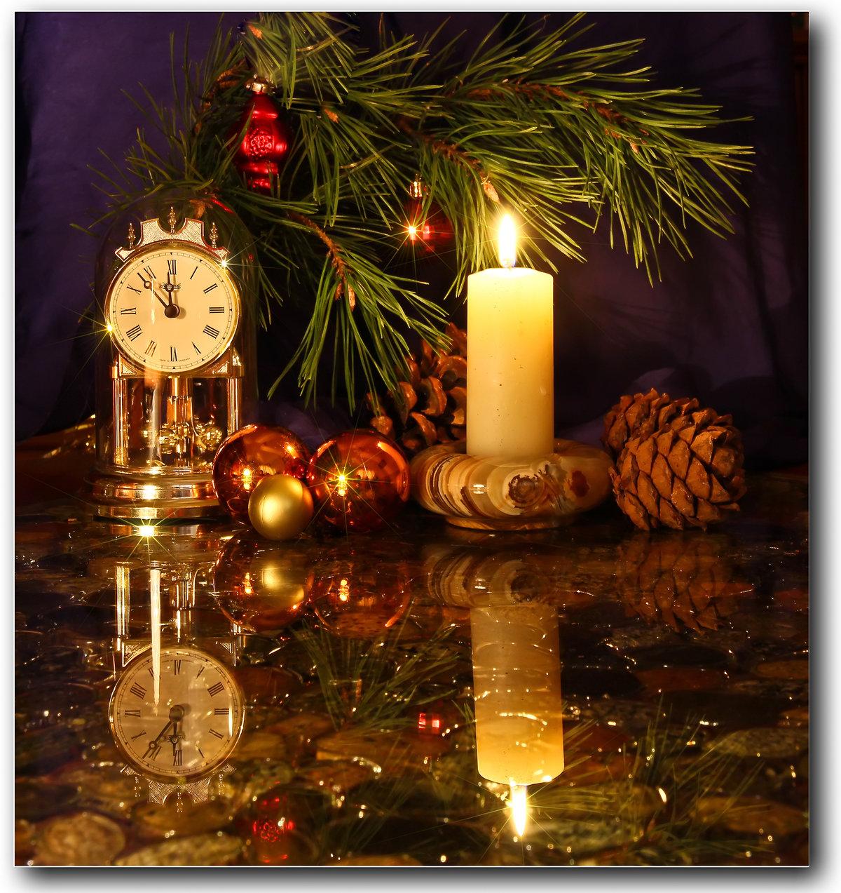С новым годом открытка свечи, открытки днем рождения