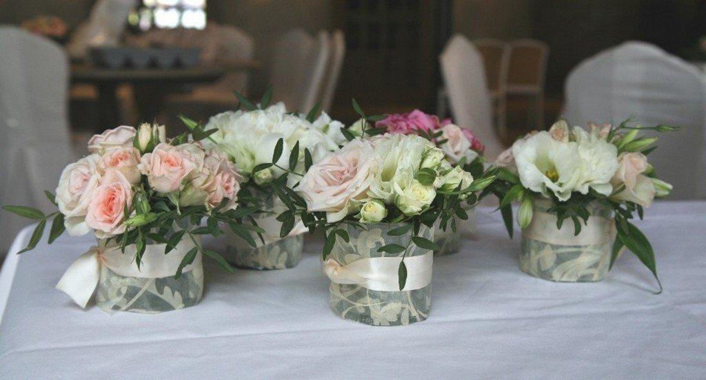 Украшение свадебного букета на стол своими руками, цветов доставка
