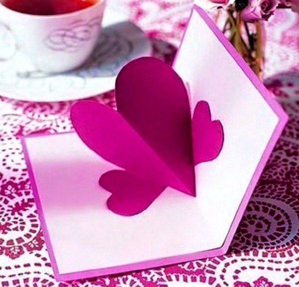 Как в открытке сделать сердце