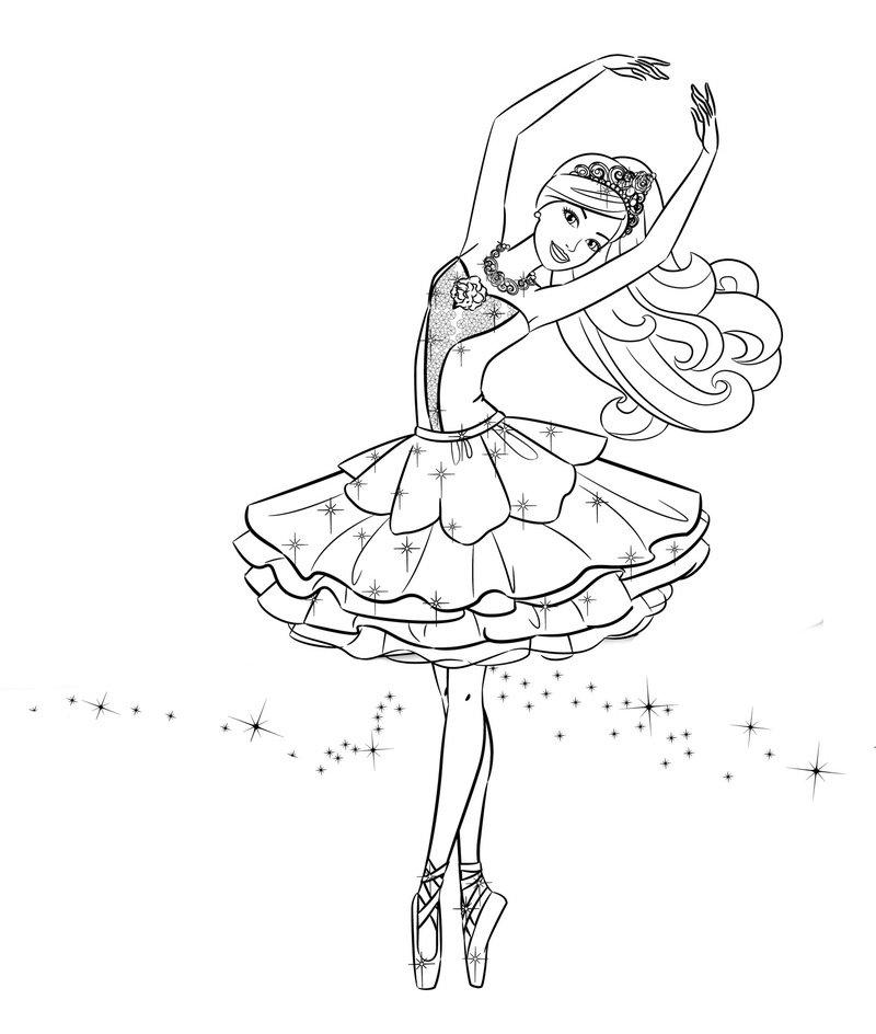 «Раскраски Барби Красивая Балерина» — карточка ...